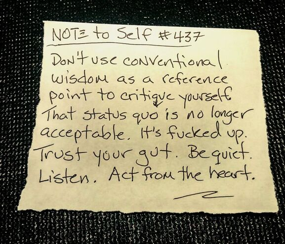 Note to self by michael dickes image